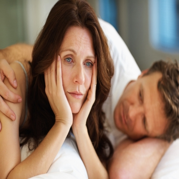 Mature woman having problems in bed with husband